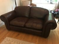 Laura Ashley leather sofa - 2 seater