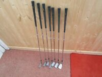++REDUCED++ 7 X LADIES SLAZENGER JEAN DONALD GOLF CLUBS 3 5 6 7 9 SW AND WEDGE. GOOD CONDITION,