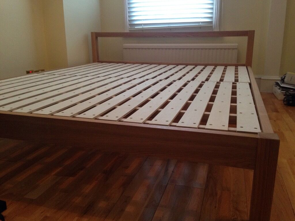 muji large double ash bed frame