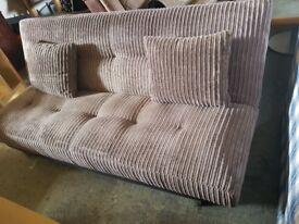 sofa bed in fabric brown