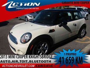 2013 Mini COOPER Knightsbridge,auto,air,toit,bluetooth