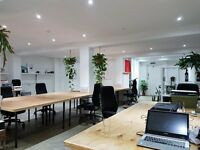 Desks to Rent in Creative East London Warehouse Space - Incuding Use of Large Studio Hire Space