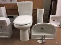 EX-DISPLAY BASIN & TOILET WITH SOFT CLOSE SEAT