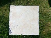 Never used extra ceramic light pink floor tiles 31x31cm
