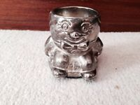 silver plated egg cup- humpty dumpty