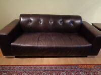 Leather sofas 3 + 2 - three seater and two PRICE DROPPED