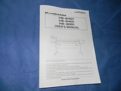Roland Versacamm Vs-640i 540i 300i Users Manual