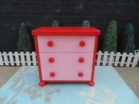 GIRLS IKEA CHEST OF DRAWERS SOLID AND IN VERY GOOD CONDITION 76/45/75 cm £35