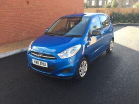 Hyundai i10, Cheap road tax £20 iPod AUX Air conditioning, 99,000 Miles, Not fiesta, corsa, polo