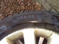 Winter Tyres and wheels x 4: 205/55 R16