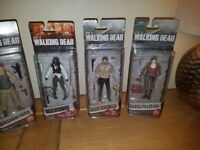 THE WALKING DEAD SET OF 5 FIGURES ALL BOXED