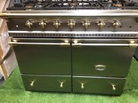 Lovely Lacanche Cluny Range cooker Double oven Stainless Steel and Brass INC VAT