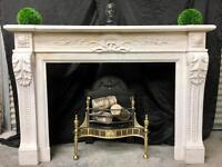 Period Statuary Marble Fireplace Surround