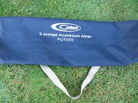 GELERT 3 ARMED ALUMINIUM AIRER CARAVAN/CAMPING