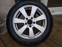 Mercedes Alloy wheels (4) with almost new winter tyres