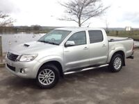 2012 TOYOTA HILUX D/C 3.0 D4-D INVINCIBLE AUTO 4X4 SILVER ** SAT NAV! ++ FULL LEATHER INTERIOR!!! **