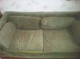Vintage WESLEY BARRELL sofa bed for upcycling or restoration project FREE!!