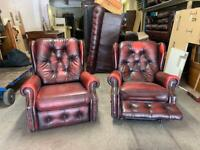 La-Z-Boy chesterfield recliner leather chairs UK DELIVERY