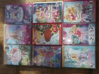 9 DVD'S BARBIE SWAN LAKE AND MANY OTHER'S