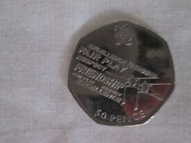 50p - 50 pence olympic rowing 2011 coin