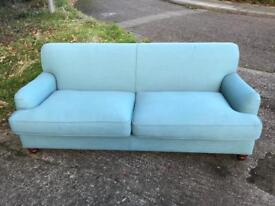 New Made Soft Teal 3 Seater Orson Sofa Retail £738!!