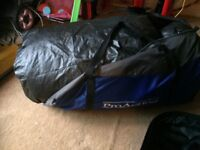 PROACTION 6 man tent with airbed and 2 chairs