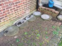 Set of 12 garden stepping stones - FREE