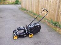 mcculloch m40 125cc petrol push lawnmower with grass box.