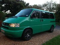 VW T4 1998 Caravelle Dayvan/Camper conversion 2.5 TDi 102 Automatic - Rare Ontario Green