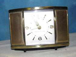 Vintage WESTCLOX Gold Sliding Door Table Top Alarm Clock J1286