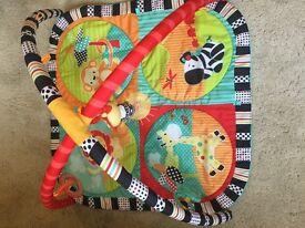 Bright Starts Safari playmat, baby gym