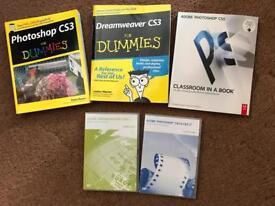 Dreamweaver and photoshop training books and cds