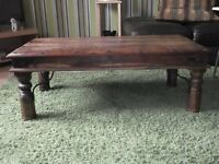 Ex John Lewis Sheesham Wood Coffee Table.
