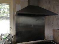 Stainless Steel splash back and fan