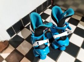 Blue Rollerskates Adjustable Size Range 10 to 12, FREE DELIVERY IF LOCAL