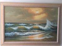 Large oil painting seascape original