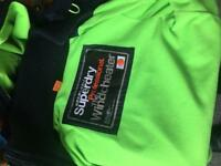 (Small) Rare lime green Superdry Jacket