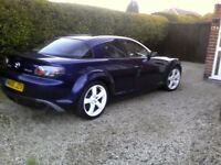 RX-8 Blue 58000 miles engine rebuilt by triple B Engineering. Excellent Car