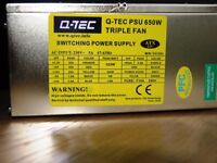 Q-TEC Power Supply Unit 650W Tripple fan - ATX PSU