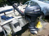 Yamaha 8hp Longshaft Fourstroke outboard engine
