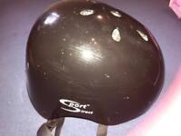 Black scooter helmet