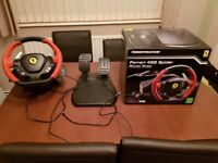Thurstmaster Farrai steering wheel and pedals Xbox one
