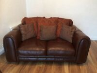 Two matching leather couches
