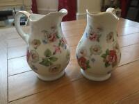 Vintage style milk jugs