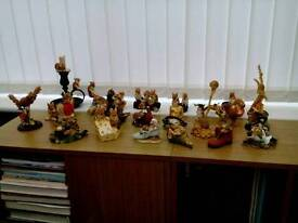 Collection of 27 mice ornaments