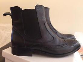 Marta Jonsson Black Brogue Chelsea Style Boots