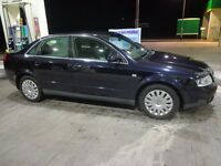 2003 audi a4 1.9 tdi diesel 130bhp with 12 months mot, cheap tax DRIVEAWAY OR DELIVERY AVAILABLE