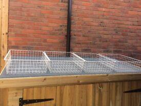 4XI Ikea metal storage baskets