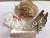 Ispirata wedding hat has matching Renato shoes and clutch bag