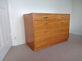 Two solid wood chests of drawers
